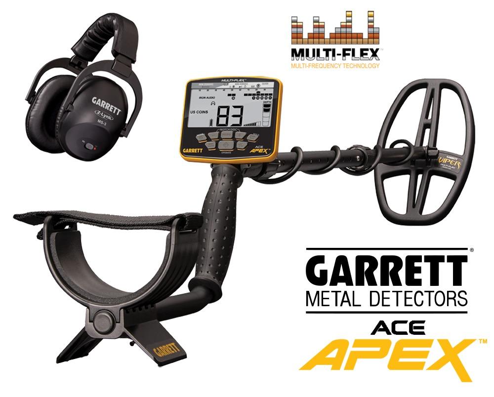Détecteur de métaux Garrett Ace Apex avec casque Z-Lynk
