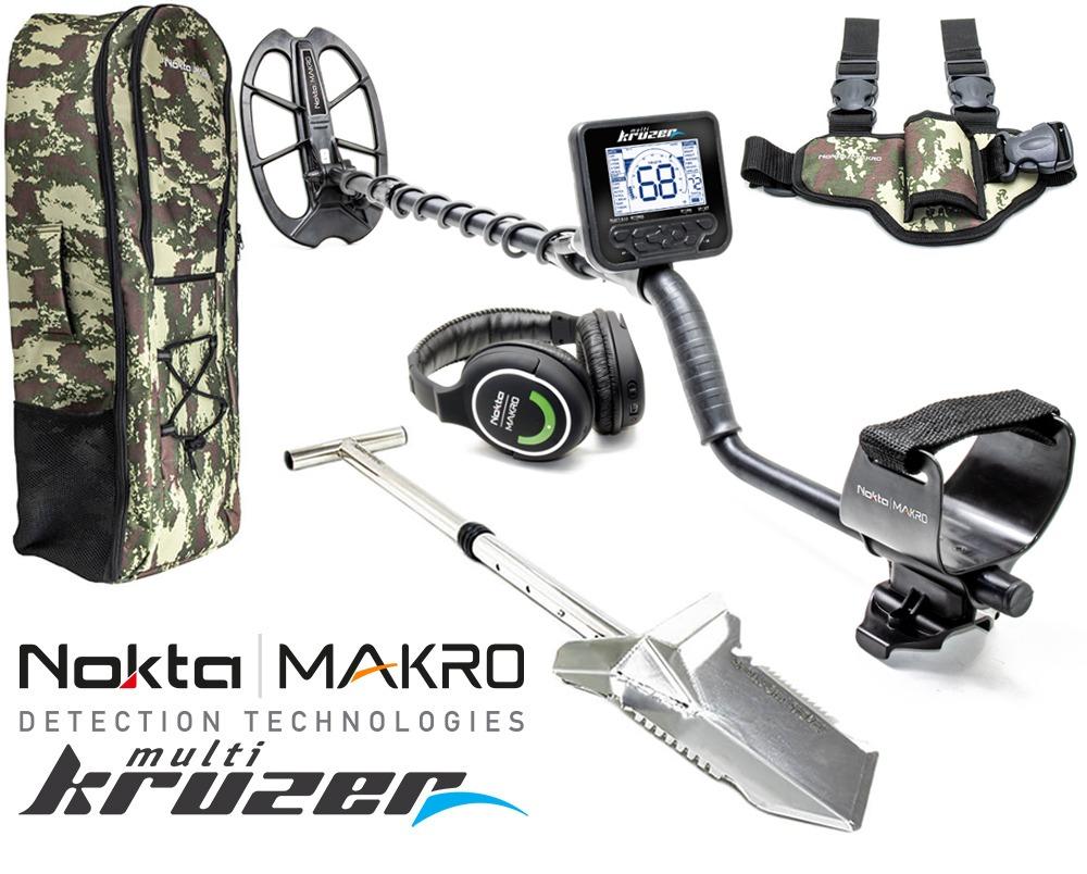 Nokta    Détecteur de métaux Makro Multi-Kruzer + sac à dos + bêche Premium + étui de jambe
