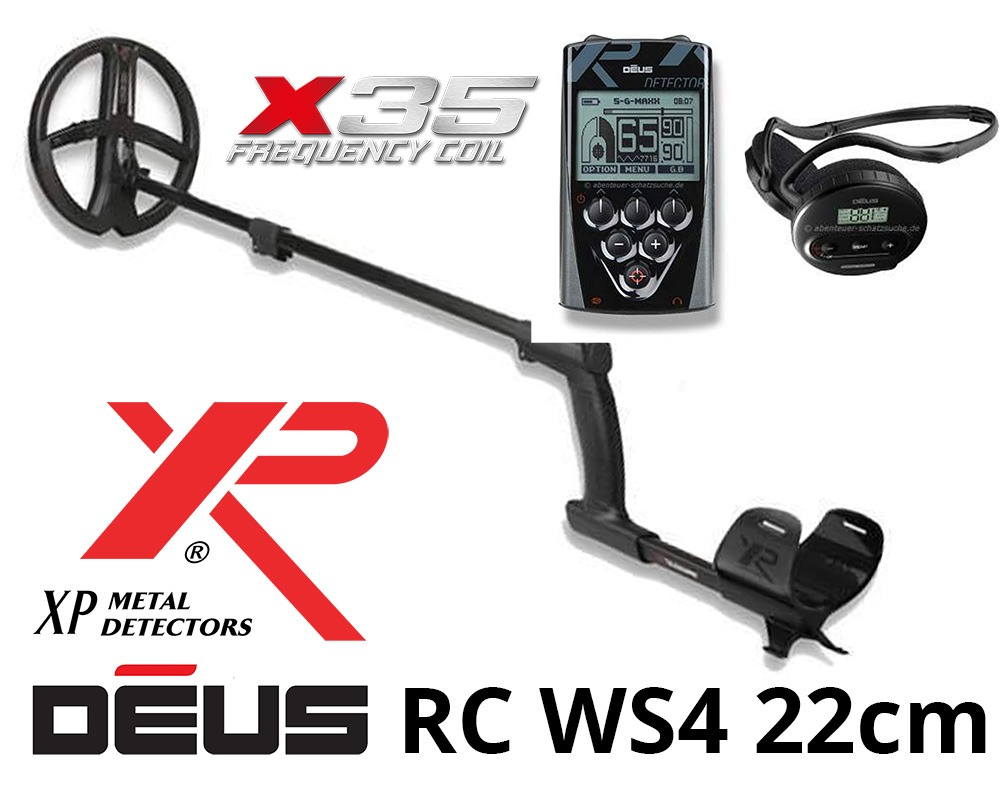 XP DEUS X35 22 Détecteur de métaux RC WS4 set complet